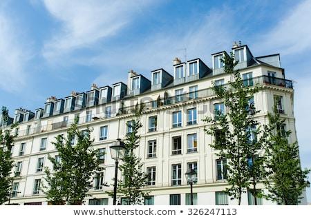 Típico casas Paris França céu Foto stock © Elnur