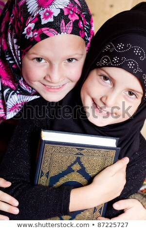 Two kids reading holy Quran Stock photo © zurijeta