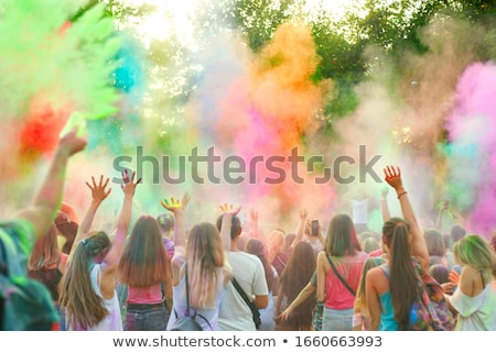 dancing with powder stock photo © alphaspirit