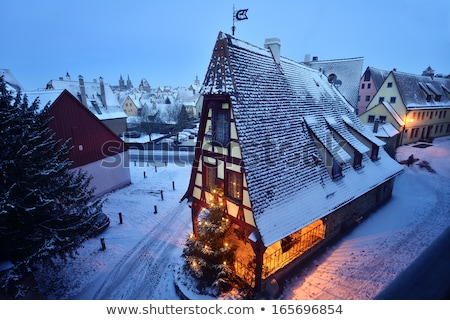 Rothenburg ob der Tauber, old famous city from medieval times se Stock photo © meinzahn