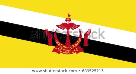 Bandiera Brunei illustrazione bianco segno onde Foto d'archivio © Lom