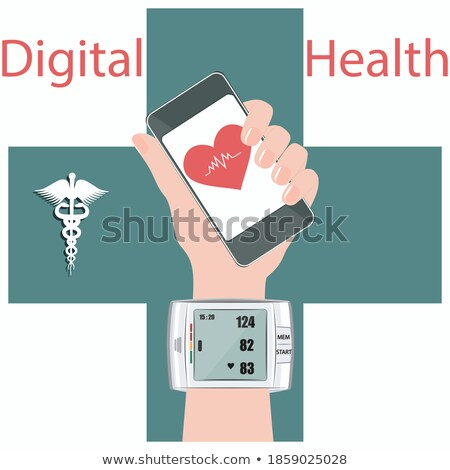 Medical digital tonometer vector illustration. Stock photo © RAStudio