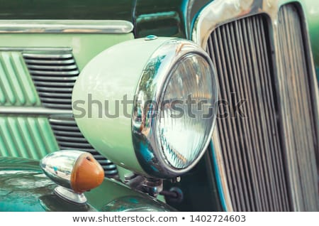 Motor-car Headlight and grate of radiator on a car Stock photo © kayros