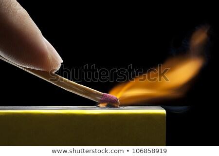 Match main flamme Photo stock © peterguess