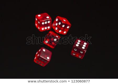 piros · kocka · izolált · fehér · doboz · játék - stock fotó © day908