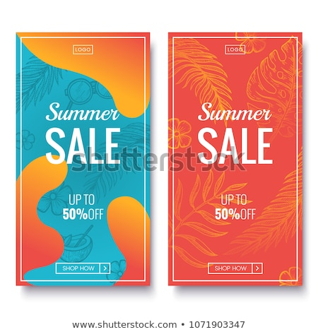orange voucher for sale and business promotion Stock photo © SArts