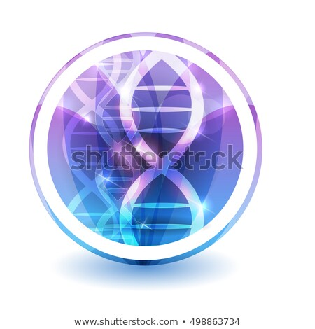DNA chain sign, round shape colorful overlay flower petals at th Stock photo © Tefi