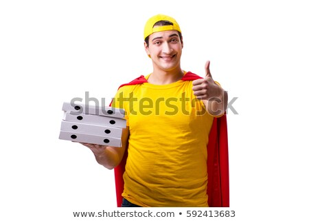 Super hero delivery guy isolated on white Stock photo © Elnur