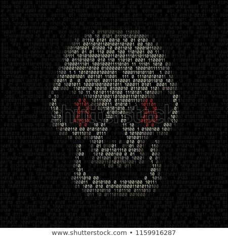 Cráneo bitcoin código ojos azul Foto stock © romvo