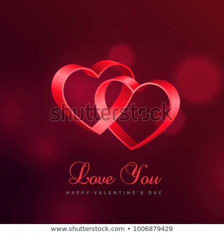love background with two hearts connected with eachother Stock photo © SArts