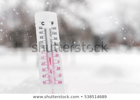 Thermometer On Snow Showing Low Temperature Stock photo © AndreyPopov