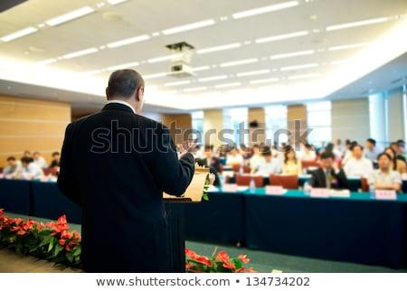 Foto stock: Asia · empresario · discurso · conferencia · empresarial · gente · de · negocios