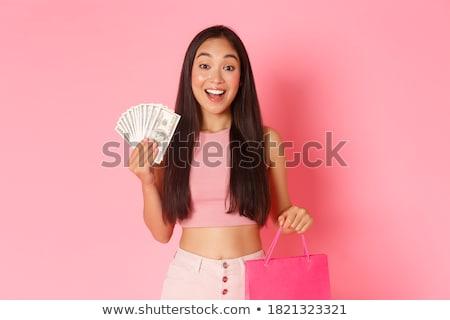 Retrato belo sorridente estudante mulher menina Foto stock © Minervastock