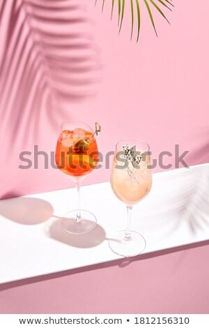 Glass of Aperol Spritz cocktail on the pool Stock photo © ruslanshramko