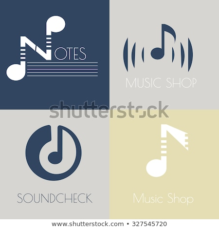 musical note logo vector set element Stock photo © blaskorizov