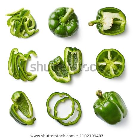 Verde fatia sino pimentas topo Foto stock © maxsol7