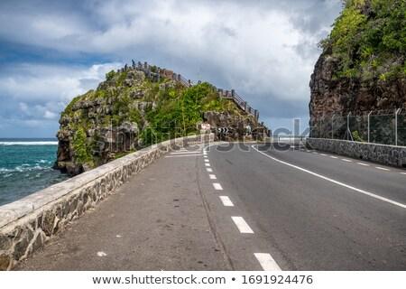 Road across the ocean Stock photo © colematt