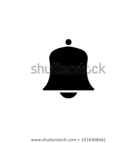Harang ikon vektor izolált fehér szerkeszthető Stock fotó © smoki