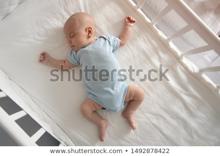 Portret slapen pasgeboren wieg baby Stockfoto © Lopolo