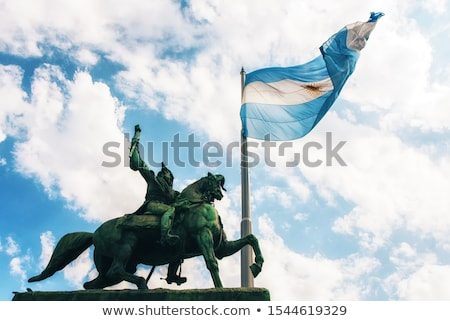 House with flag of argentina Stock photo © MikhailMishchenko