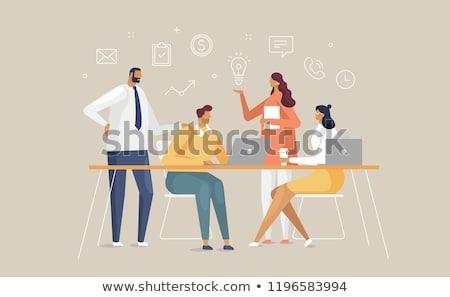 作業 · 残業 · 怠惰な · 事務員 · コンピュータ - ストックフォト © decorwithme