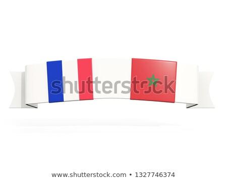 バナー 2 広場 フラグ フランス モロッコ ストックフォト © MikhailMishchenko