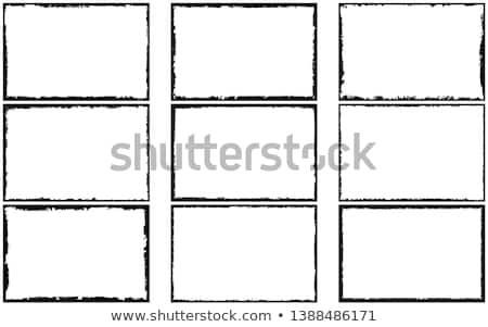 черный вектора кадр Гранж стиль набор Сток-фото © kyryloff