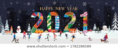 счастливым · праздников · детей · снеговик · вектора - Сток-фото © robuart