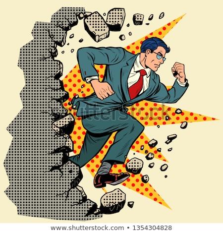 лидера бизнесмен стены движущихся вперед Сток-фото © studiostoks