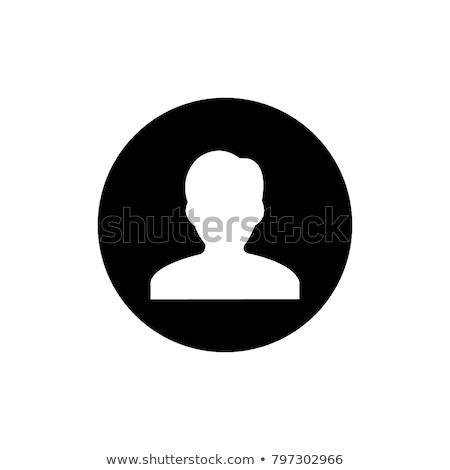 Feketefehér felhasználó ikon sziluett szimbólum weboldal Stock fotó © kyryloff