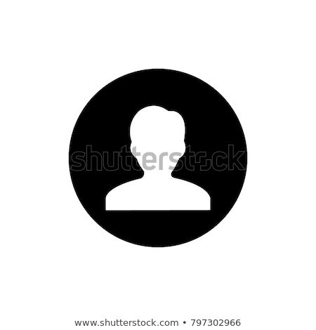 Blanc noir utilisateur icône silhouette symbole site web Photo stock © kyryloff