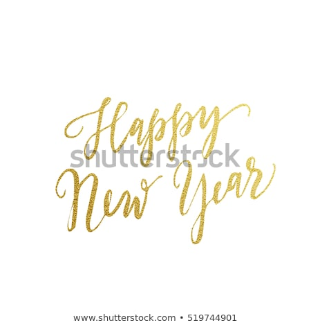 Funny Modern Greeting New Year Postcard Vector Stock photo © pikepicture