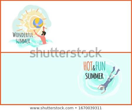 Maravilhoso verão teia vetor pessoas Foto stock © robuart