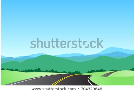 Travelers in Car, Mountain View, Summer Vector Stock photo © robuart