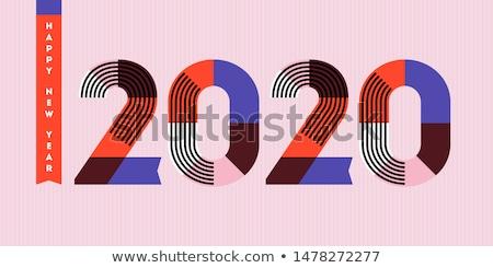 Feliz ano novo logotipo geométrico números abstrato Foto stock © ussr