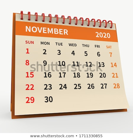 2020 year. Calendar for November. 3D illustration Stock photo © ISerg