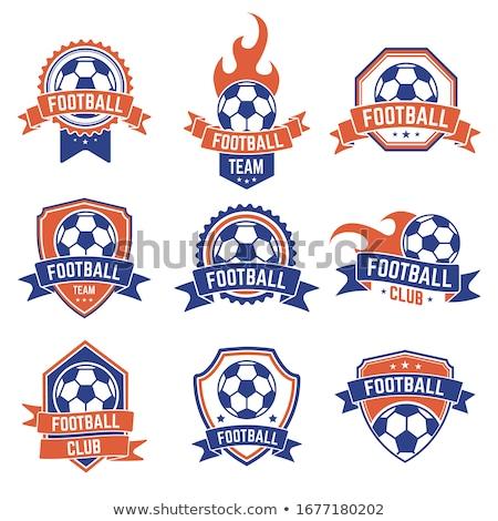 futball · címer · futball · kitűző · grafikus · szöveg - stock fotó © masay256