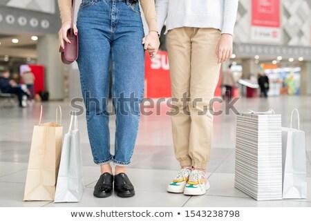 снизить два молодые случайный джинсов Сток-фото © pressmaster
