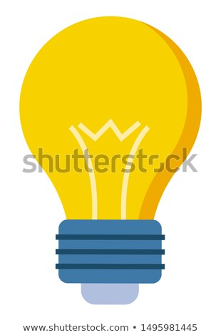 Yellow Glass Bulb Flat Style Closeup. Vector Lamp Stock photo © robuart