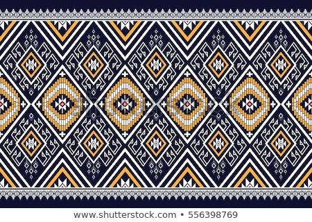 Abstrato vetor tribal étnico decorativo padrão Foto stock © balabolka