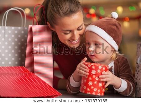 Christmas zakupy rodziny wakacje przygotowanie nowy rok Zdjęcia stock © robuart
