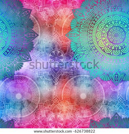 мандала рисованной этнических арабский индийской Сток-фото © barsrsind