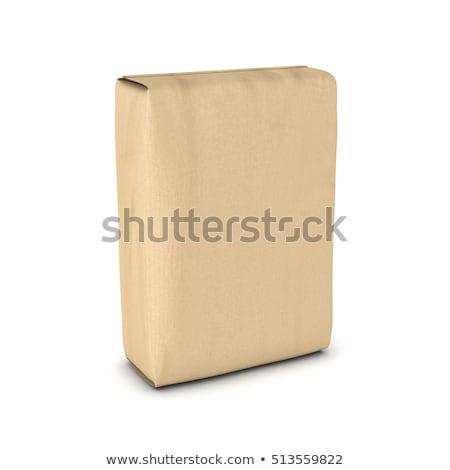 Bag cemento bianco illustrazione sfondo arte Foto d'archivio © bluering