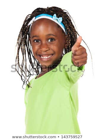little african american girl showing thumbs up stock photo © dolgachov
