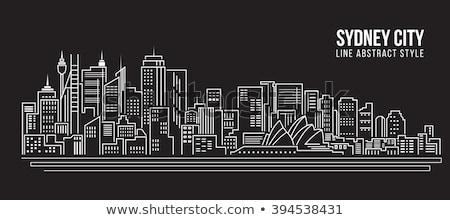 Contorno Sydney grattacieli business albero Foto d'archivio © ShustrikS