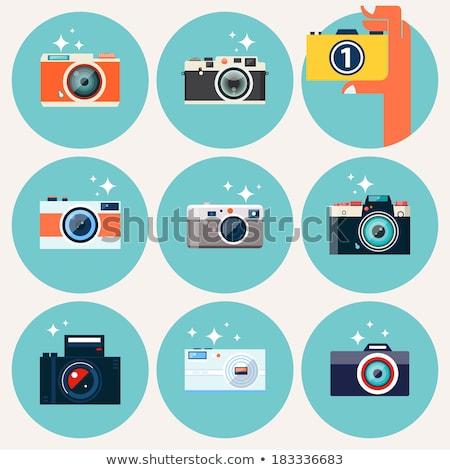 Modern Digital Camera with Flashlight and Lens Stock photo © robuart