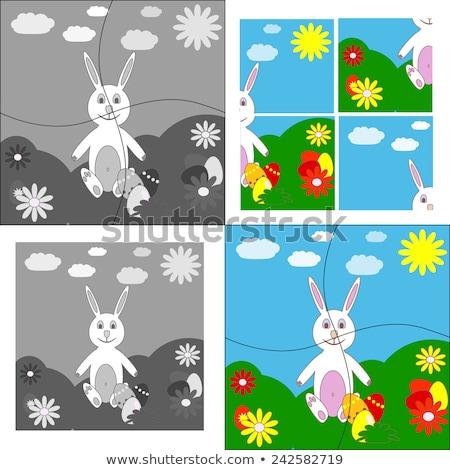 Spel Easter Bunny eieren cartoon illustratie Stockfoto © izakowski