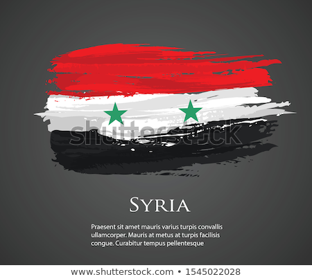 Syrië vlag witte wereld achtergrond reizen Stockfoto © butenkow