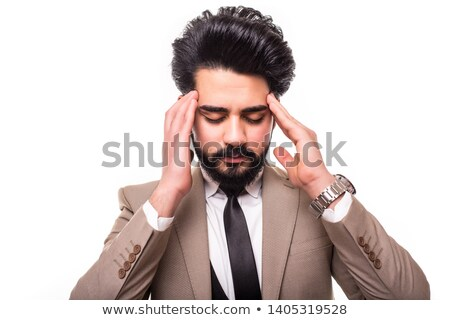 Business Man With Migraine And Headache Stock photo © AndreyPopov