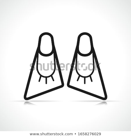 Vector bodyboard flippers symbol icon Stock photo © nickylarson974